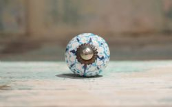 Painted Porcelain Door Knobs - Pale Blue (Small)